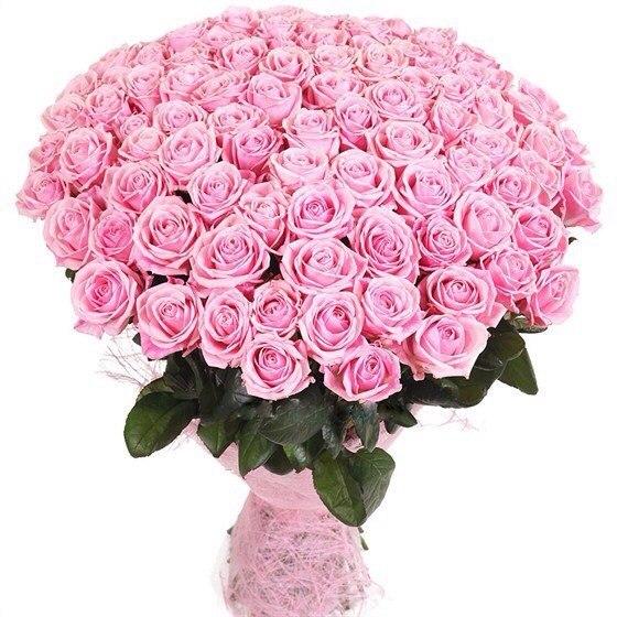 Большой букет из миниатюрных розовых роз