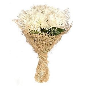 Белые хризантемы как символ романтики