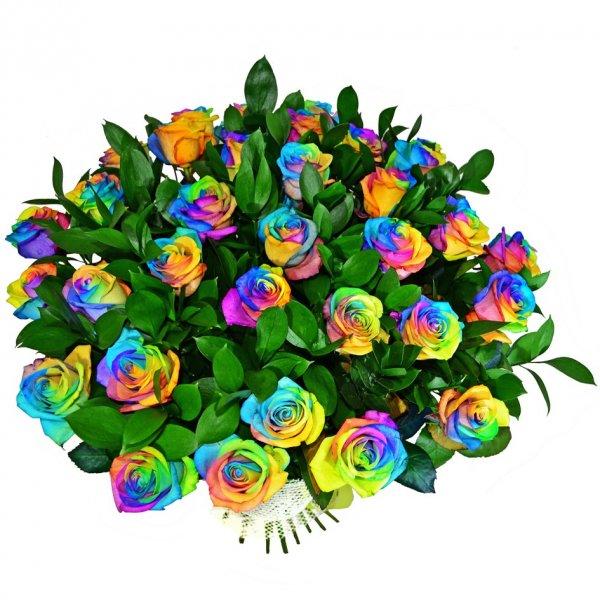 Своими руками, открытки разноцветные розы
