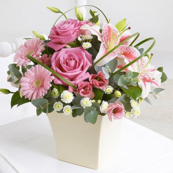 букет из роз и гербер фото