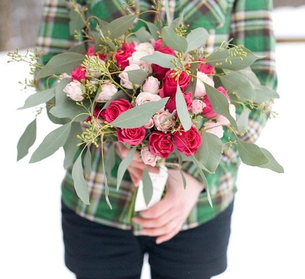 Цветы день Валентина